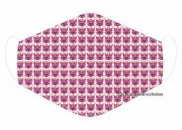 MÁSCARA EM TECIDO INFANTIL MOD101 Estampa personalizada no tecido 100% poliéster   1 camada de TECIDO TRICOLINE 100% ALGODÃO formando uma dupla proteção. Costura