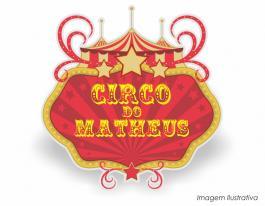 Placa decorativa circo vintage - 60x61cm  60x61cm  Impressão UV Led