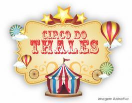 Placa decorativa circo vintage - 70x57cm  70x57cm  Impressão UV Led