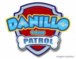 Placa decorativa patrulha canina - 60x52cm  60x52cm  Impressão UV Led
