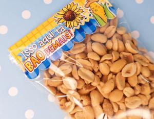 saquinho de amendoim salgado sem casca 100gr    Sublimação